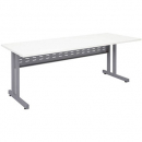 RAPID SPAN C LEG DESK METAL MODESTY PANEL 1200 X 700MM WHITE/SILVER