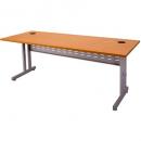 Rapid span c leg desk metal modesty panel 1800 x 700mm beech/silver
