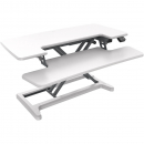 Rapid flux electric height adjustable desk riser 950 x 415mm white
