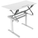 Rapid surge height adjustable desk 590 x 1190mm white