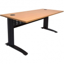 Rapid span desk metal modesty panel 1200 x 700mm beech/black