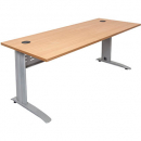 Rapid span desk metal modesty panel 1200 x 700mm beech/silver