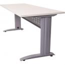 Rapid span desk metal modesty panel 1500 x 700mm white/silver