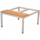 RAPIDLINE SEAT AND STAND 610 X 700MM SILVER GREY/LIGHT OAK