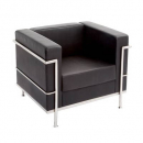 SPACE LOUNGE 1 SEAT PU BLACK