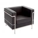 Space lounge single seater pu black