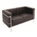 Space lounge two seater pu black