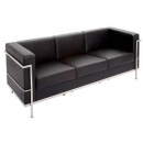 Space lounge three seater pu black