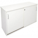 Rapid vibe sliding door credenza 1200 x 450 x 730mm white