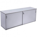 Rapid vibe sliding door credenza 1800 x 450 x 730mm grey