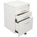 RAPID VIBE MOBILE PEDESTAL 3 DRAWER 690 X 465 X 447MM WHITE
