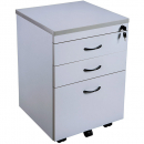 RAPID VIBE MOBILE PEDESTAL 3 DRAWER 690 X 465 X 447MM GREY