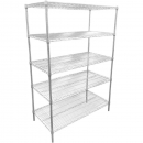 RAPIDLINE CHROME WIRE SHELVING 1800 X 1200 X 600MM