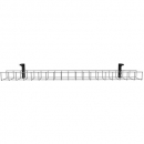Rapid single tier cable basket 650mm white GPO x 4