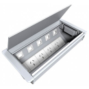 RAPID BOARDROOM TABLE BOXES 4 X AUTO SWITCHED GPO AND PROVISION FOR 5 X DATA SW17 SERIES SILVER