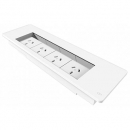 RAPID SURFACE MOUNT FLIP BOX - 4 X SW18 SERIES AUTO SWITCHED GPO ONLY WHITE