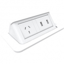 Rapid pop up in desk module 2 x usb white