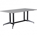 Rapidline typhoon meeting table 1800 x 900 x 750mm grey