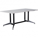 Rapidline typhoon meeting table 1800 x 900 x 750mm white