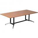 RAPIDLINE TYPHOON BOARDROOM TABLE 2400 X 1200 X 750MM BEECH