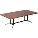RAPIDLINE TYPHOON BOARDROOM TABLE 2400 X 1200 X 750MM CHERRY
