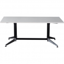 Rapidline typhoon boardroom table 2400 x 1200 x 750mm white