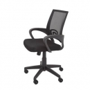 Vesta chair black mesh back with fabric seat black