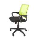 Vesta chair lime mesh back with fabric seat black