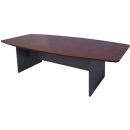 Rapid manager boardroom table 2400 x 1200 x 730mm appletree/ironstone