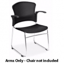 RAPIDLINE ZING CHAIR ARM SET BLACK PACK 2