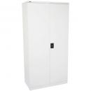 Go steel cupboard 3 shelves 910 x 450 x 1830mm flat packed silver grey