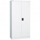 Go steel cupboard 3 shelves 910 x 450 x 1830mm flat packed white china