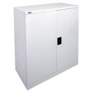 GO STEEL STATIONERY CUPBOARD 2 SHELVES 1015 X 910 X 450MM WHITE CHINA