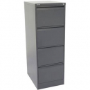 Go steel filing cabinet 4 drawer 460 x 620 x 1321mm graphite ripple