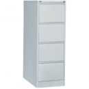 Go steel filing cabinet 4 drawer 460 x 620 x 1321mm silver grey