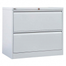 GO LATERAL FILING CABINET 2 DRAWER 705 X 900 X 473MM SILVER GREY
