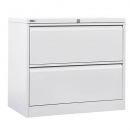 Go lateral filing cabinet 2 drawer 705 x 900 x 473mm