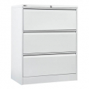 Go lateral filing cabinet 3 drawer 1016 x 900 x 473mm