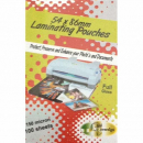 Gold sovereign laminating pouch 54 x 86mm 150 micron pack 50