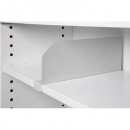 Go steel clip on shelf divider 175mm high white