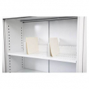 Go steel extra shelf 900 x 390mm with 4 clips silver grey