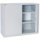 Go steel tambour door cupboard 2 shelves 1200 x 473 x 1016mm white china