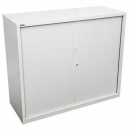 Go steel tambour door cupboard no shelves 1200 x 473 x 1016mm white china