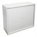 Go steel tambour door cupboard no shelves 900 x 473 x 1016mm white china