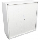 Go steel tambour door cupboard 2 shelves 1200 x 473 x 1200mm white china