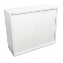 Go steel tambour door cupboard no shelves 1200 x 473 x 1200mm white china