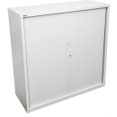 Go steel tambour door cupboard no shelves 900 x 473 x 1200mm white china