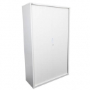 Go steel tambour door cupboard no shelves 1200 x 473 x 1981mm white china