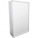Go steel tambour door cupboard 5 shelves 900 x 473 x 1981mm white china