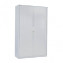 Go steel tambour door cupboard no shelves 900 x 473 x 1981mm white china